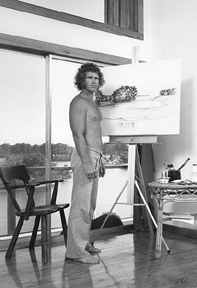 Hal in his studio, 1976