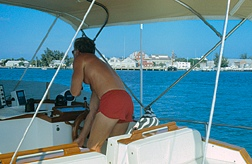 On board our floating studio  Mangrove Momma IV Summer 1985