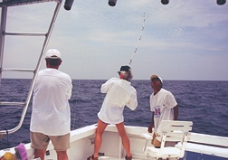 Fishing in the bottomless Pacific